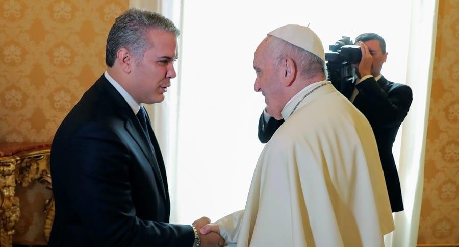 Papa Francisco e Iván Duque