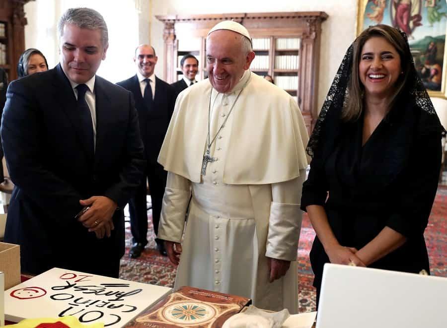Iván Duque, Papa Francisico, María Juliana Ruiz