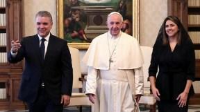 Encuentro de Iván Duque con el papa Francisco