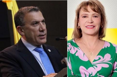 Roy Barreras y María Isabel Rueda