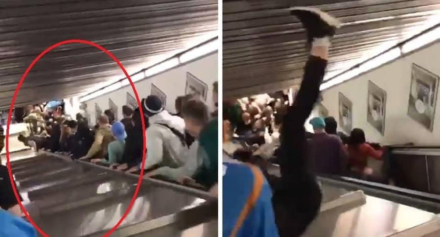 Accidente en metro de Roma