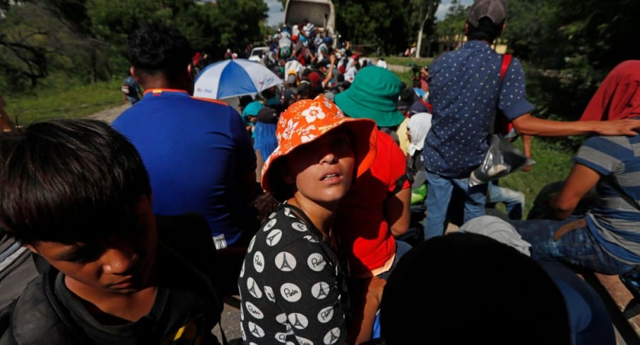 Caracvana de hondureños