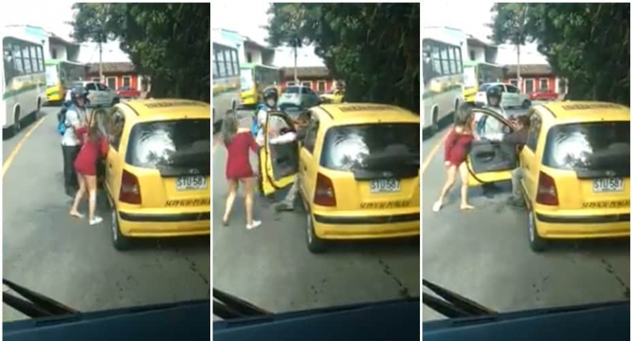 Taxista agrede a mujer.