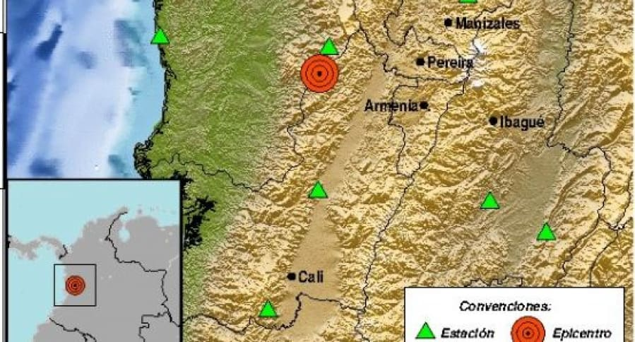Temblor en Colombia