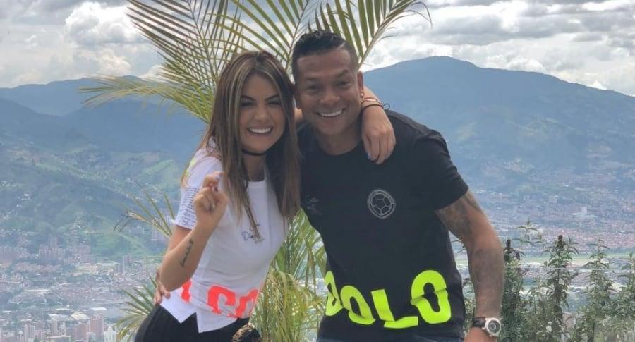 Sara Uribe, presentadora y modelo, y Fredy Guarín, futbolista.