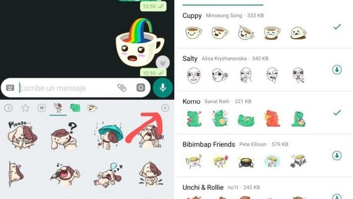 Nuevos stickers WhatsApp