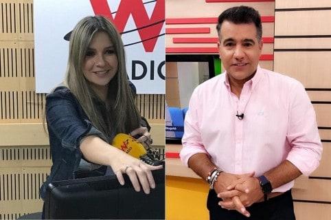 Vicky Dávila y Carlos Calero, presentadores.