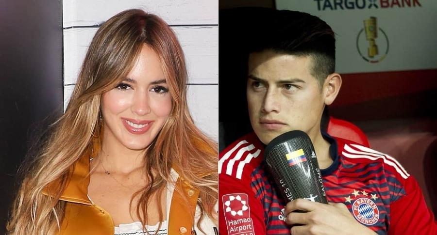 Shannon de Lima, modelo, y James Rodríguez, futbolista.