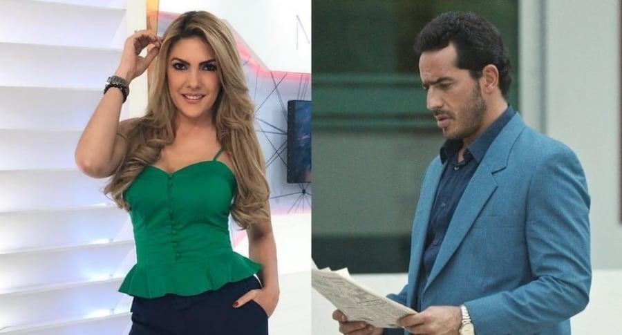 Ana Karina Soto, presentadora, y Pedro Palacio, actor.