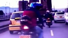 Accidente fingido en Bogotá