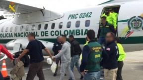 Siete colombianos y un dominicano detenidos en España por narcotráfico