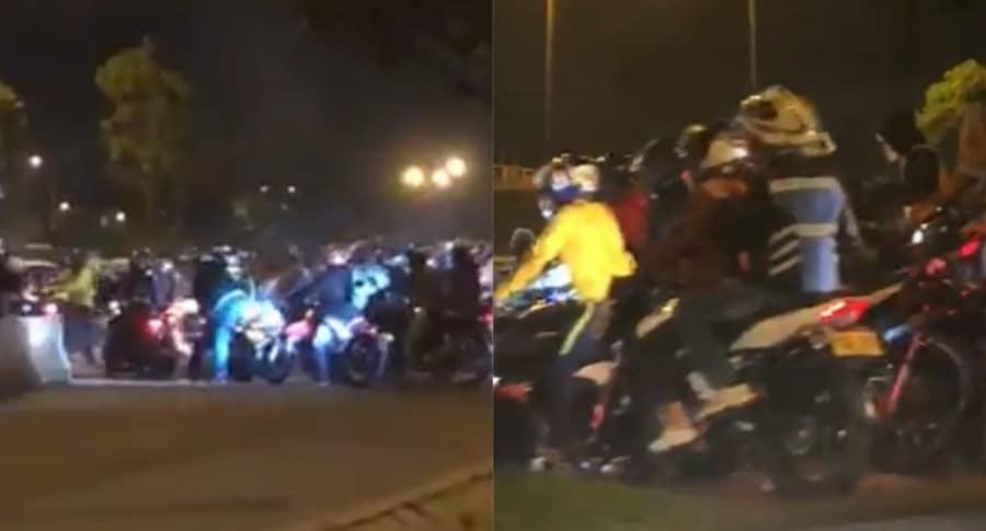 Motociclistas causaron bloqueos en Bogotá