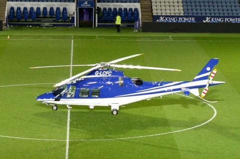 Helicoptero del Leicester