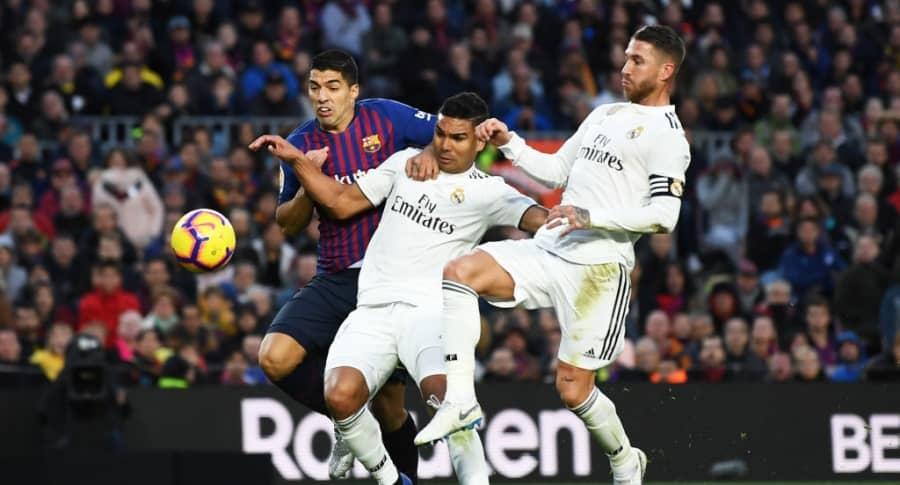 Luis Suárez, Casemiro y Sergio Ramos