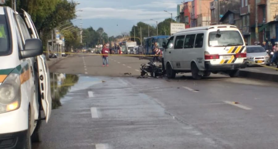Accidente en la Avenida Mutis