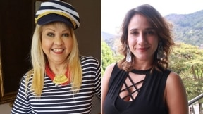 'La Gorda' Fabiola, humorista, y 'Chichila' Navia, actriz.