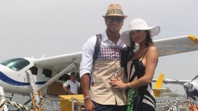 Fredy Guarín, futbolista, y Sara Uribe, presentadora.