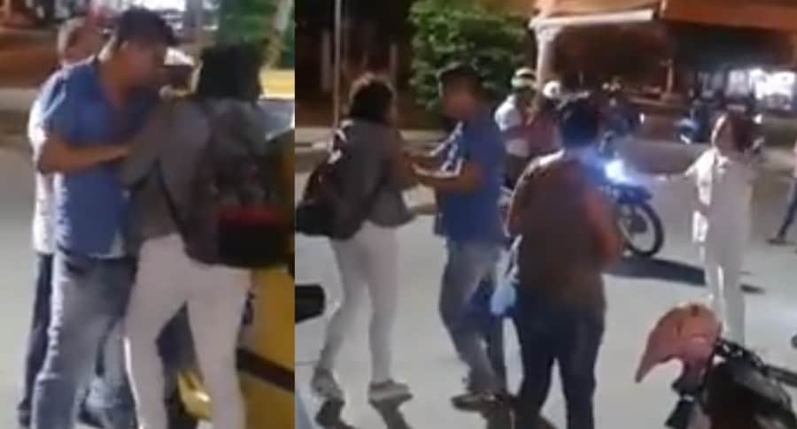 pelea Barranquilla