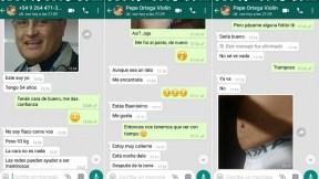 Chat de WhatsApp entre cura José Ortega y un joven
