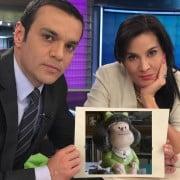 Juan Diego Alvira y Vanessa de la Torre, presentadores; y Mafalda.