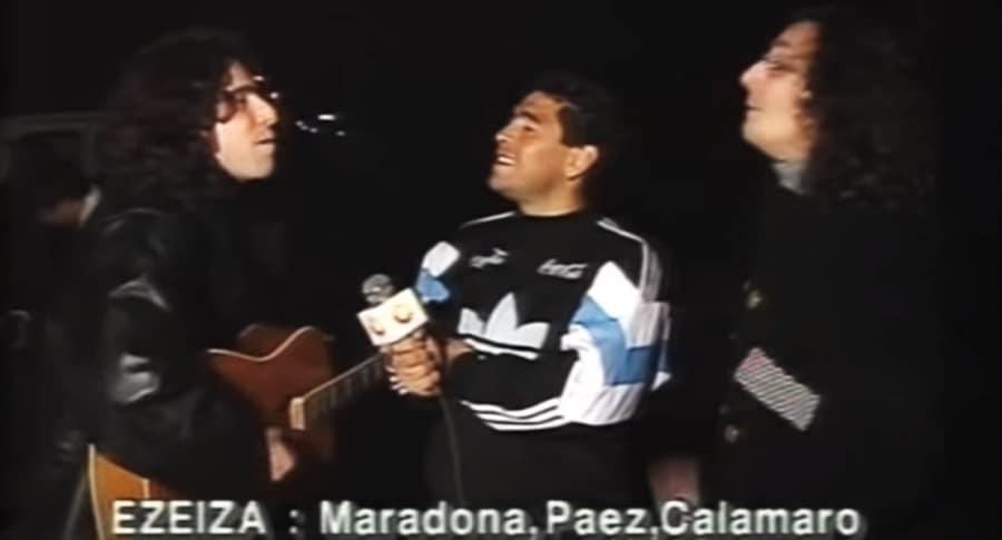 Andrés Calamaro, Diego Maradona y Fito Páez