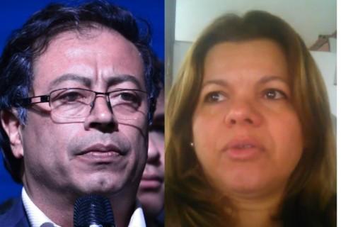Gustavo Petro y Mary Luz Herrán Cárdenas