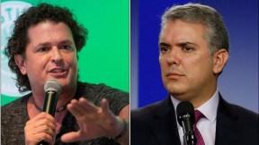 Carlos Vives e Iván Duque