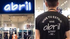 Tienda y empleado de Abril