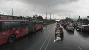Troncal de Transmilenio de la Autopista Norte con calle 187