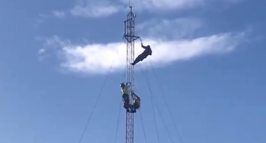 Hombre en antena