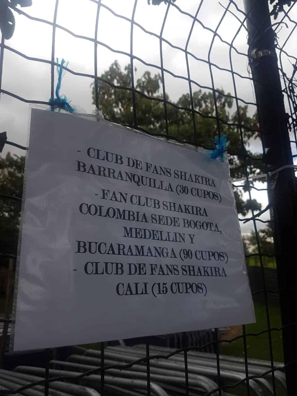 Fila Shakira en el Parque Simón Bolívar