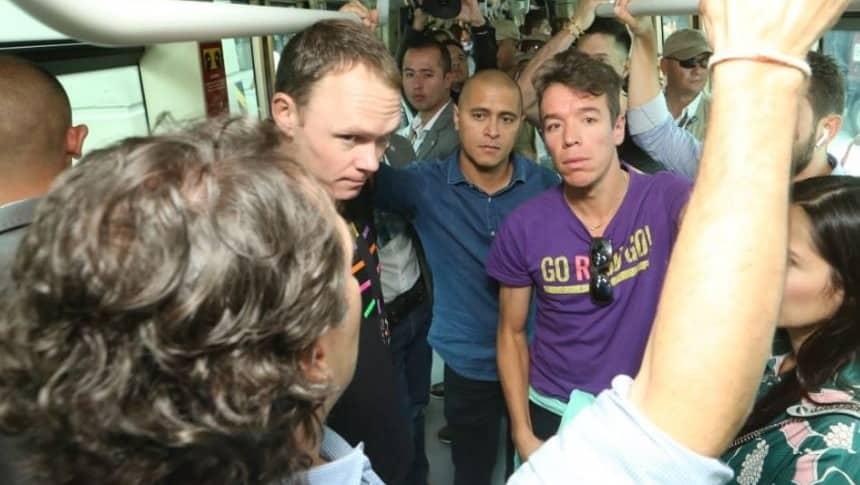 Rigoberto Urán y Christopher Froome