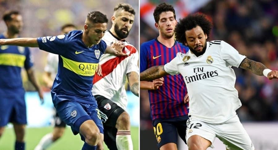 Boca-River y Barcelona-Real Madrid