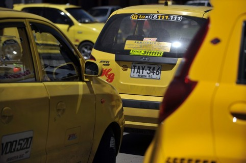 COLOMBIA-BOGOTA-TAXIS-SECURITY