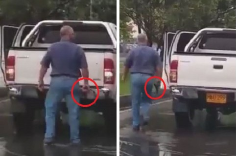 Conductor que amenazó con un arma a otro en vía de Bogotá
