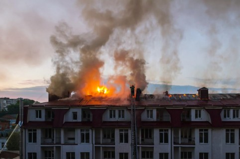 Casa incendiada.