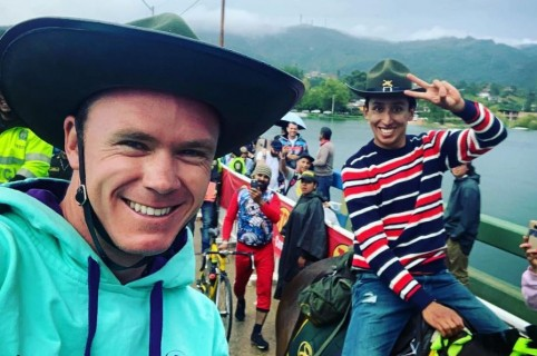 Chris Froome y Egan Bernal