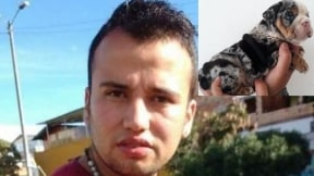 Jhon Alexander Barón y el perro hurtado