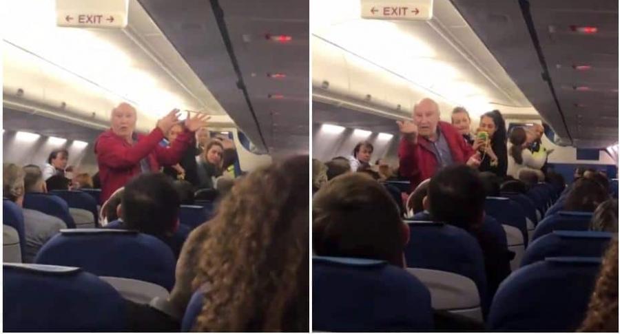 Hombre expulsado de avión.