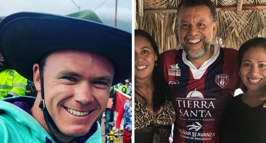 Chris Froome y el padre Linero