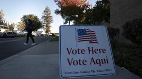 Punto d votación en Modesto, California