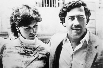 María Eugencia Henao y Pablo Escobar.
