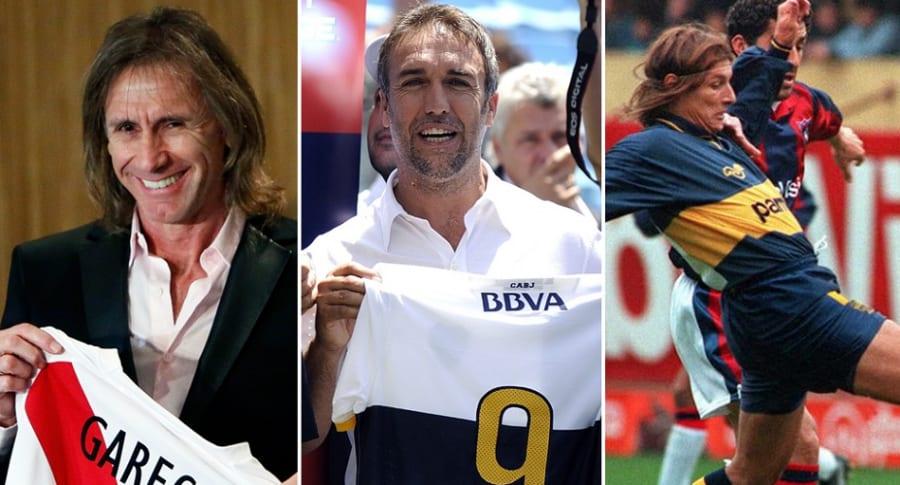 Ricardo Gareca, Gabriel Batistuta y Claudio Caniggia