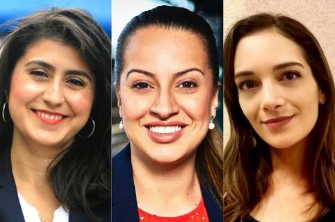 Catalina Cruz, Jessica Ramos y Julia Salazar