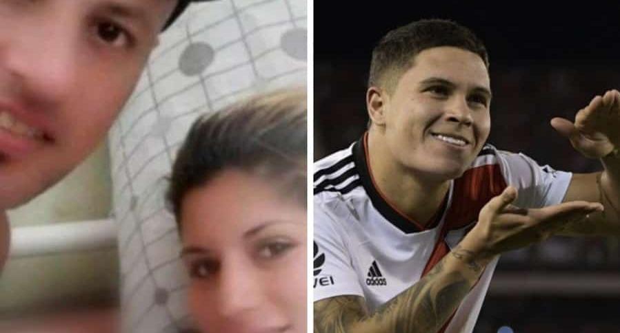 Hinchas de River Plate y Juan Fernando Quintero