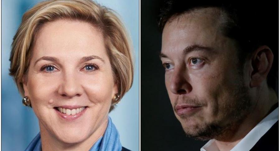 Robyn Denholm y Elon Musk