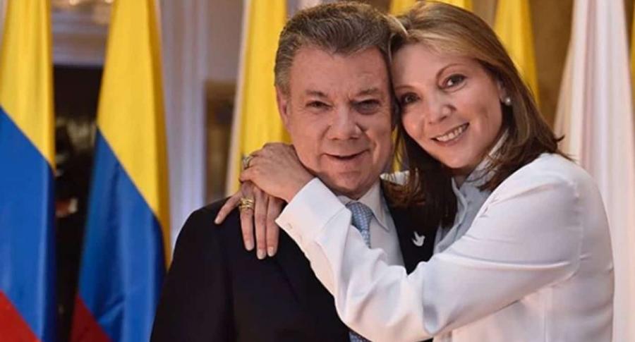 Juan Manuel Santos y María Clemencia de Rodríguez de Santos