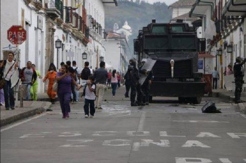 Disturbios en Popayán