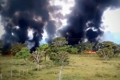 Incendio en la vereda Cañaguata de Cubará (Boyacá)