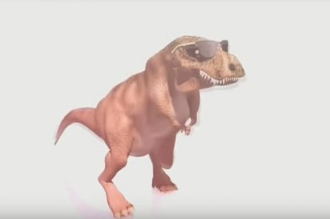 Dinosaurio con Gafas